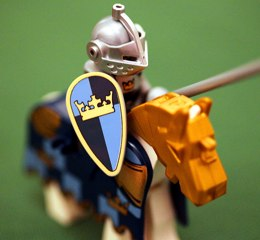 Lego knight in shining armour