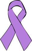 Lavender ribbon - cancer awareness