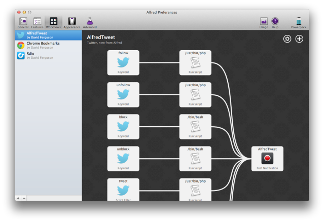 AlfredTweet Workflow in v2