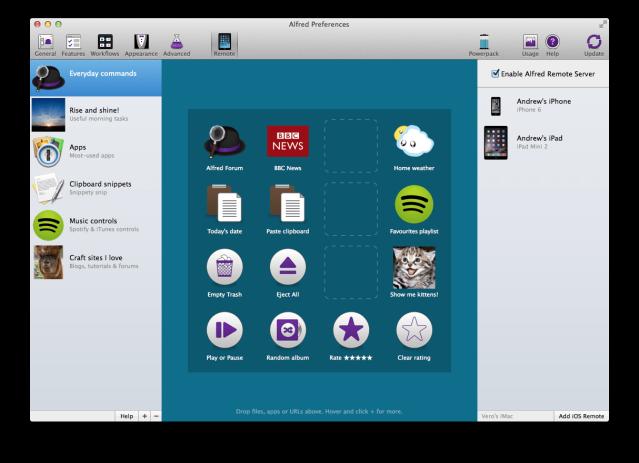 Alfred Remote - setup on Mac